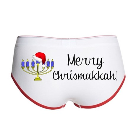 Merry Chrismukkah Menorah Women's Boy Brief