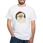 Vintage Santa White T-Shirt
