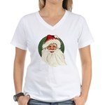 Vintage Santa Women's V-Neck T-Shirt