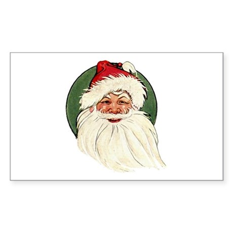 Vintage Santa Sticker (Rectangle)