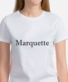 Black Font Marquette Tee