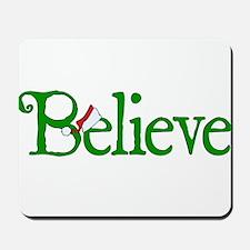 Believe with Santa Hat Mousepad