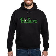 Believe with Santa Hat Hoodie