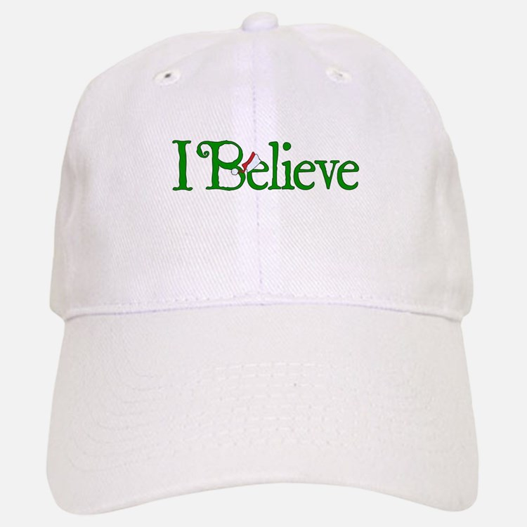 I Believe with Santa Hat Baseball Baseball Cap
