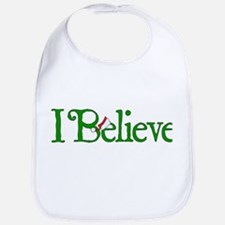 I Believe with Santa Hat Bib