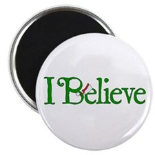 "I Believe with Santa Hat 2.25"" Magnet (10 pack)"
