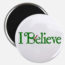 "I Believe with Santa Hat 2.25"" Magnet (100 pack)"