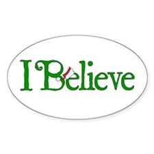 I Believe with Santa Hat Decal