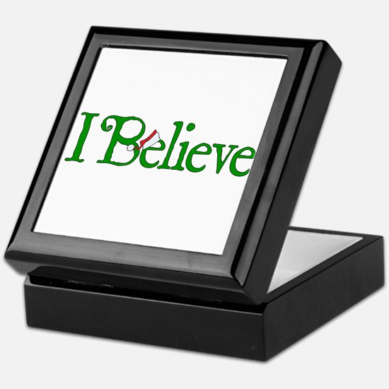 I Believe with Santa Hat Keepsake Box