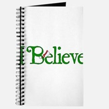 I Believe with Santa Hat Journal