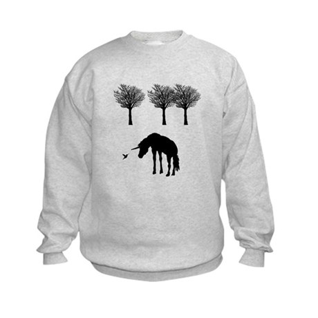 Unicorn and Hummingbird Kids Sweatshirt