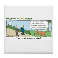 Cable News Tile Coaster
