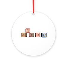 Andre Alphabet Block Ornament (Round)