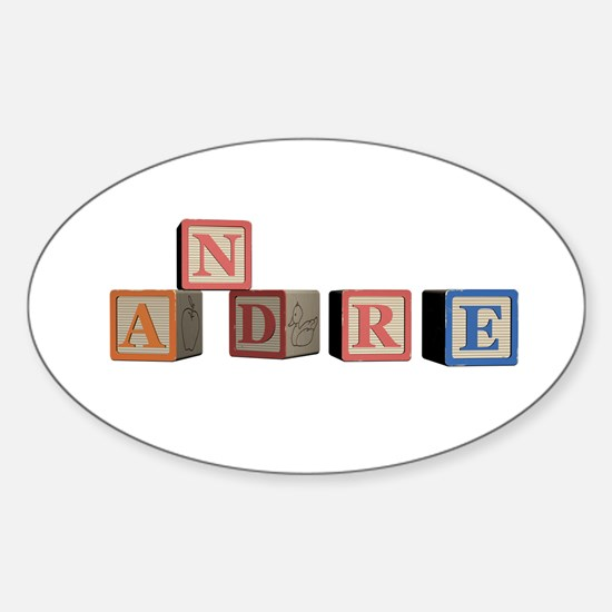 Andre Alphabet Block Sticker (Oval)