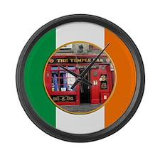 Helaine's Shots of Ireland I Large Wall Clock
