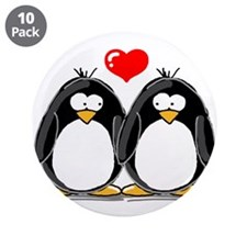 "Love Penguins 3.5"" Button (10 pack)"