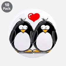 "Love Penguins 3.5"" Button (10 pack)"