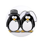 """Bride and Groom Penguins 3.5"""" Button (100 pac"""