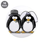 """Bride and Groom Penguins 3.5"""" Button (10 pack"""