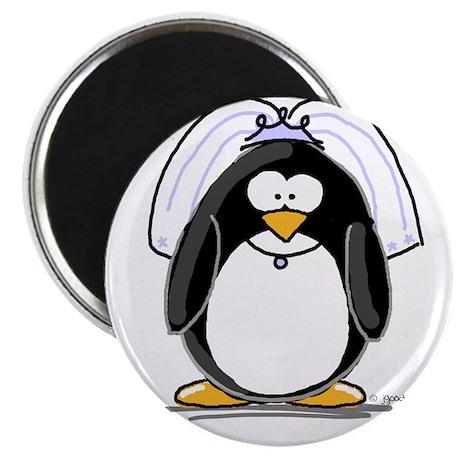"""Bride penguin 2.25"""" Magnet (100 pack)"""
