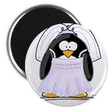 """Fancy Bride penguin 2.25"""" Magnet (10 pack)"""