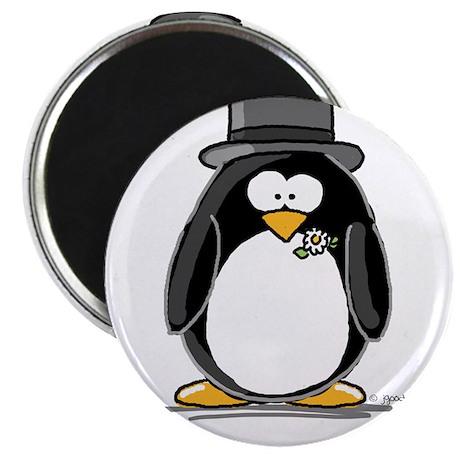 """Groom penguin 2.25"""" Magnet (10 pack)"""