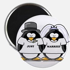 """Just Married Bride and Groom 2.25"""" Magnet (10"""