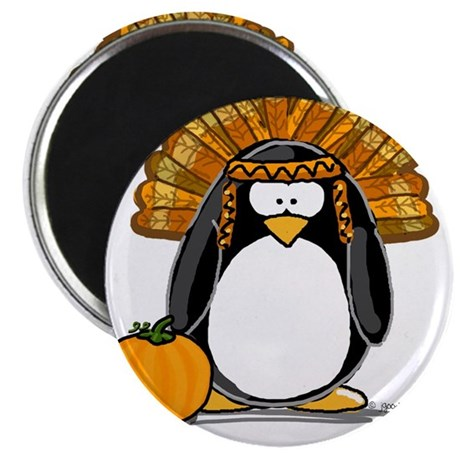 """Indian Chief Penguin 2.25"""" Magnet (10 pack)"""