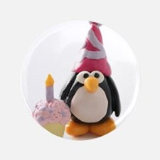 "Birthday Penguin 3.5"" Button (100 pack)"