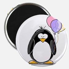 """Pastel Balloons Penguin 2.25"""" Magnet (10 pack)"""