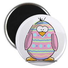 """Pink Easter Egg Penguin 2.25"""" Magnet (10 pack)"""