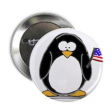 "Patriotic penguin 2.25"" Button (100 pack)"