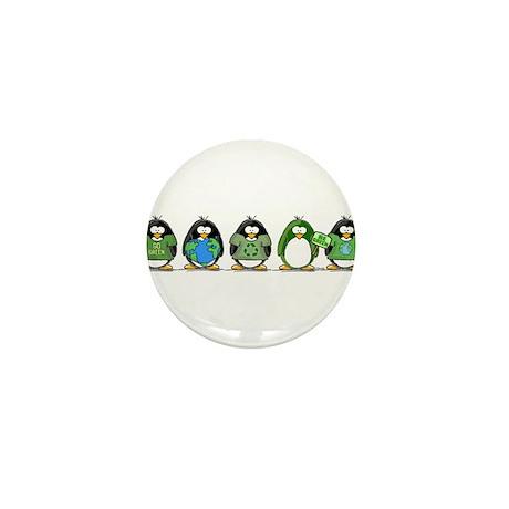 Eco-friendly Penguins Mini Button (100 pack)