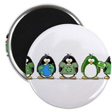 "Eco-friendly Penguins 2.25"" Magnet (100 pack)"