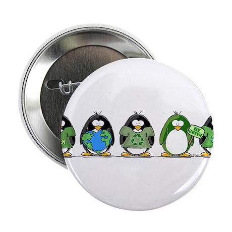 """Eco-friendly Penguins 2.25"""" Button (100 pack)"""