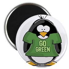 """Go Green Penguin 2.25"""" Magnet (10 pack)"""