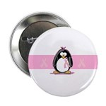 Pink Ribbon Penguin 2.25