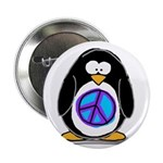 """Peace penguin 2.25"""" Button (10 pack)"""