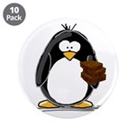 "Chocolate Brownie Penguin 3.5"" Button (10 pac"