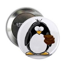 """Chocolate Brownie Penguin 2.25"""" Button (100 p"""