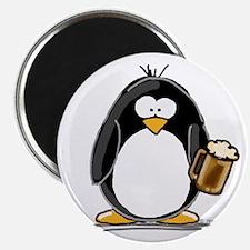"Beer Drinking Penguin 2.25"" Magnet (100 pack)"