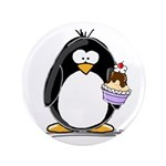 """Ice Cream Sundae Penguin 3.5"""" Button (100 pac"""