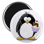 """Ice Cream Sundae Penguin 2.25"""" Magnet (100 pa"""