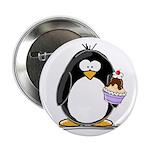 """Ice Cream Sundae Penguin 2.25"""" Button (10 pac"""