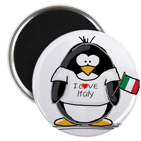 "Italy Penguin 2.25"" Magnet (10 pack)"