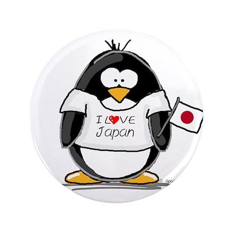 """Japan Penguin 3.5"""" Button (100 pack)"""