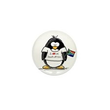 South Africa Penguin Mini Button (100 pack)