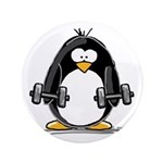 "Weight lifting penguin 2 3.5"" Button (100 pac"