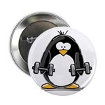 "Weight lifting penguin 2 2.25"" Button (10 pac"