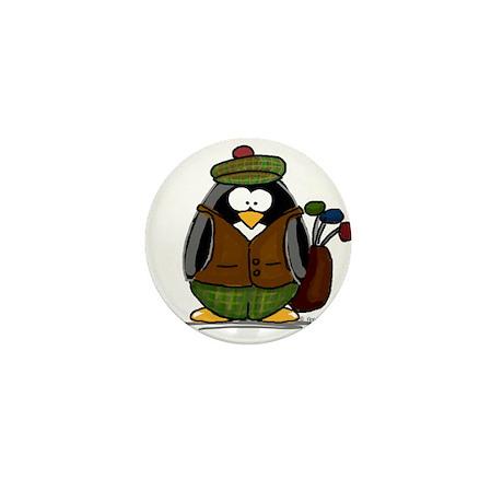 Golf Penguin Mini Button (10 pack)